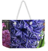 Blue Hyacinth Weekender Tote Bag