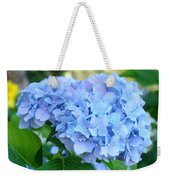 Blue Hydrangea Flowers Art Botanical Nature Garden Prints Weekender Tote Bag