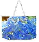 Blue Hydrangea Flowers Art Prints Summer Hydrangeas Baslee Weekender Tote Bag