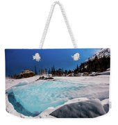 Blue Ice Sheet - Lake Hiayaha Weekender Tote Bag