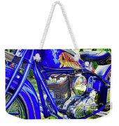 Blue Indian Weekender Tote Bag