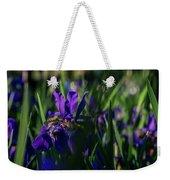 Blue Iris Field  Weekender Tote Bag