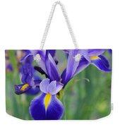 Blue Iris Flower Weekender Tote Bag
