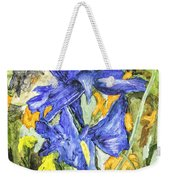 Blue Iris Painting Weekender Tote Bag