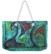 Blue Island Curves Weekender Tote Bag