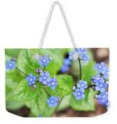 Blue Jack Frost Flowers Weekender Tote Bag