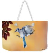 Blue Jay Beauty Weekender Tote Bag