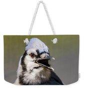 Blue Jay Portrait Weekender Tote Bag