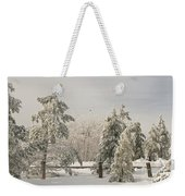 Blue Knob Winter Weekender Tote Bag