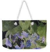 Blue Lace Weekender Tote Bag