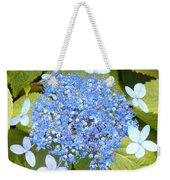 Blue Lacecap Hydrangeas Weekender Tote Bag