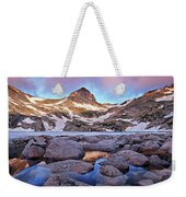 Blue Lake Sunrise Weekender Tote Bag