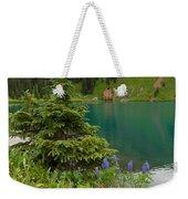 Blue Lakes Summer Portrait Weekender Tote Bag