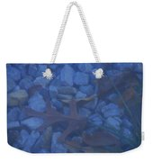 Blue Leaf Weekender Tote Bag