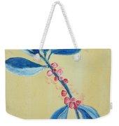 Blue Leaves And Berries Weekender Tote Bag