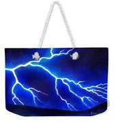 Blue Lightning Above The Ocean Weekender Tote Bag