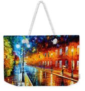 Blue Lights Weekender Tote Bag