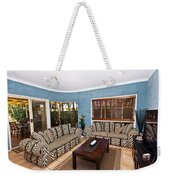 Blue Living Room Weekender Tote Bag
