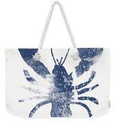 Blue Lobster- Art By Linda Woods Weekender Tote Bag by Linda Woods