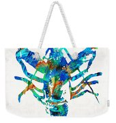 Blue Lobster Art By Sharon Cummings Weekender Tote Bag