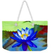 Blue Lotus Flower Weekender Tote Bag