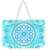 Blue Lotus Mandala Weekender Tote Bag