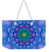 Blue Mandala For Heart Chakra Weekender Tote Bag