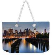 Blue Manhattan Weekender Tote Bag