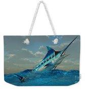 Blue Marlin Burst Weekender Tote Bag