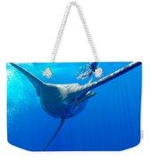 Blue Marlin Magic Weekender Tote Bag