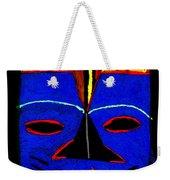 Blue Mask Weekender Tote Bag by Angela L Walker