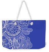 Blue Mehndi Weekender Tote Bag