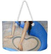 Blue Mermaid's Heart Weekender Tote Bag
