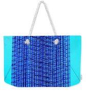 Blue Metal Mesh Weekender Tote Bag