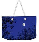Blue Moon Among The Tree Tops Weekender Tote Bag