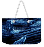 Blue Moon Wolf Pack Weekender Tote Bag