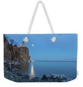 Blue Moonrise At Split Rock Lighthouse Weekender Tote Bag