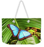 Blue Morpho Butterfly 2 - Paint Weekender Tote Bag