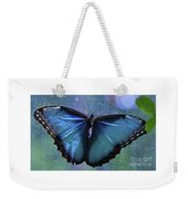 Blue Morpho Butterfly Portrait Weekender Tote Bag