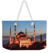 Blue Mosque At Dusk Weekender Tote Bag