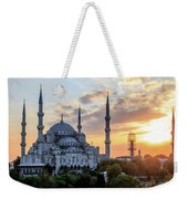Blue Mosque At Sunset Weekender Tote Bag