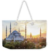 Blue Mosque Sunset Weekender Tote Bag