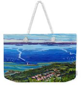 Blue Mountain Blues Weekender Tote Bag