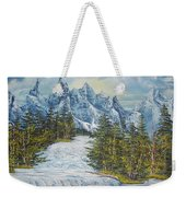 Blue Mountain Torrent Weekender Tote Bag