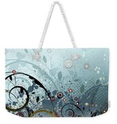 Blue Mystery Forest Of Flowers And Tendrils Weekender Tote Bag
