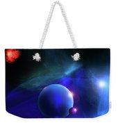 Blue Mystic Nebula Weekender Tote Bag