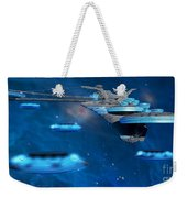 Blue Nebula Expanse Weekender Tote Bag by Corey Ford