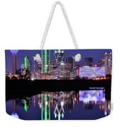 Blue Night And Reflections In Dallas Weekender Tote Bag