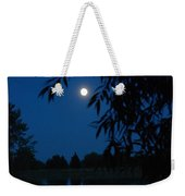 Blue Night Moon And Reflection Weekender Tote Bag