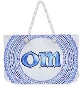 Blue Om Mandala Weekender Tote Bag